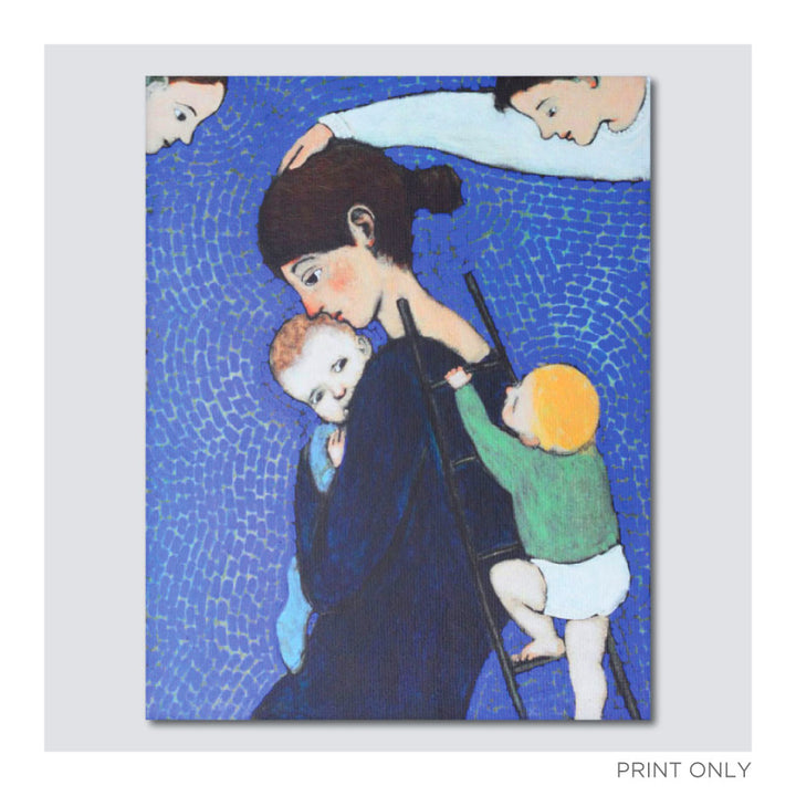 "B. Kershisnik - ""Climbing Mother"" - Print Only"