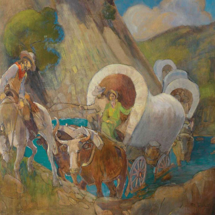 Minerva Teichert - Covered Wagon Pioneers