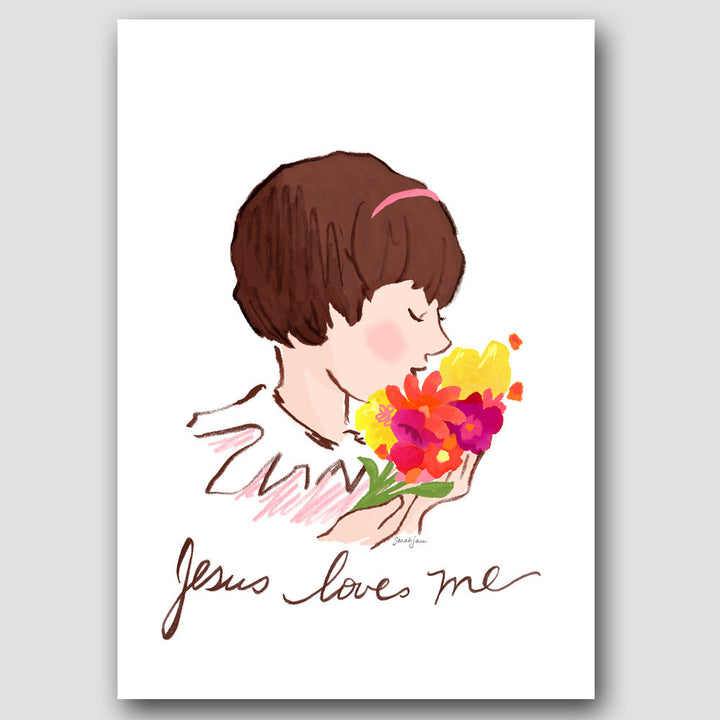 Sarah Jane Studios - Jesus Loves Me - Girl