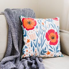 Floral Double Sided Pillow