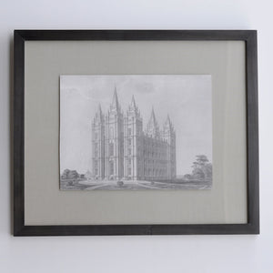 Frederick Piercy - Salt Lake Temple Engraving - Framed Print