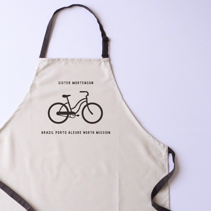 Canvas Apron - Personalized - Bicycle