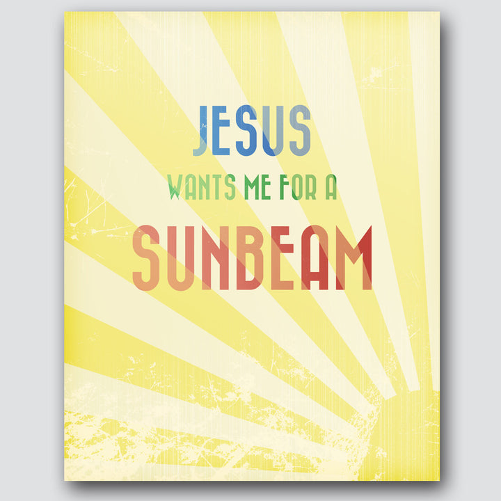 Scott Heffernan - Jesus Wants Me for a Sunbeam - Print
