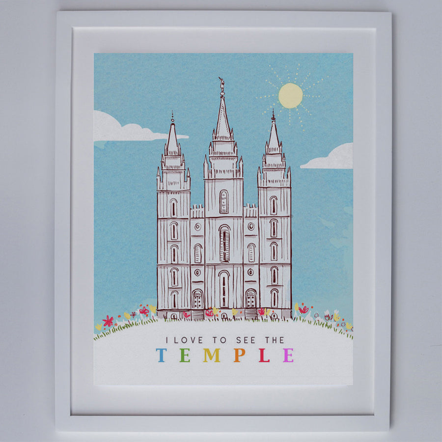 Sarah Jane Studios - I Love to See the Temple