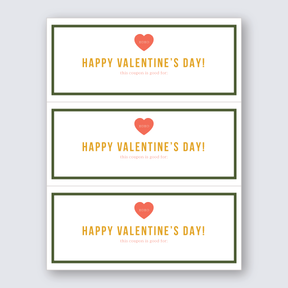 Free Download - Valentine's Day Coupon