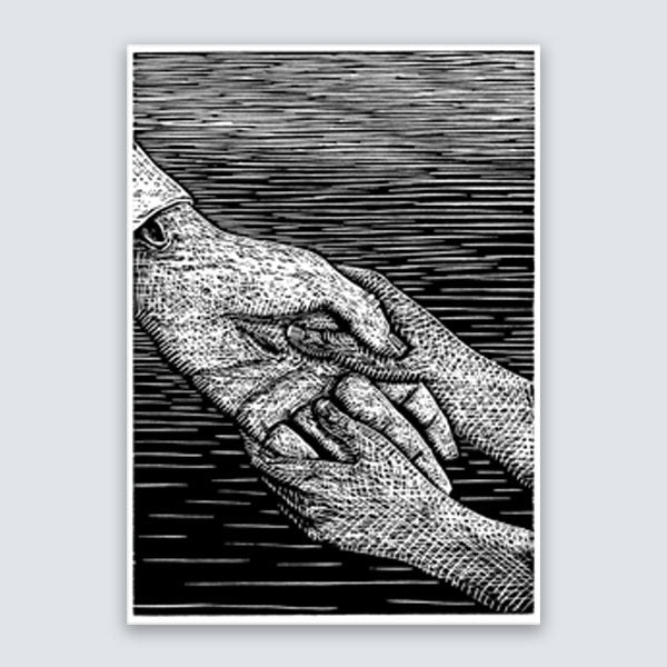 "B. Kershisnik - ""Witness"" - Relief Print"