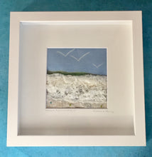 Load image into Gallery viewer, Art - Textile Art 'Above the Headland' 23x23cm