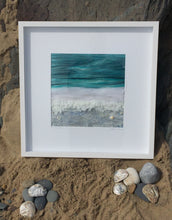 Load image into Gallery viewer, Textile Art - 50x50cm Silver Shore