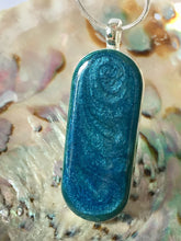 Load image into Gallery viewer, Pendant - Sea Blue/Green Long oval