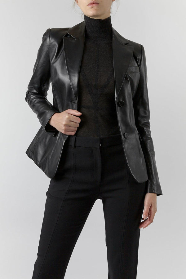 Egan Leather Blazer