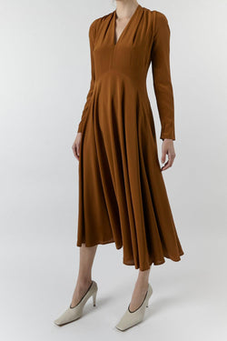 Bow Back Flared Dress