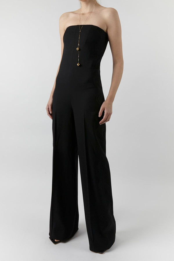Hallie Strapless Wool Jumpsuit