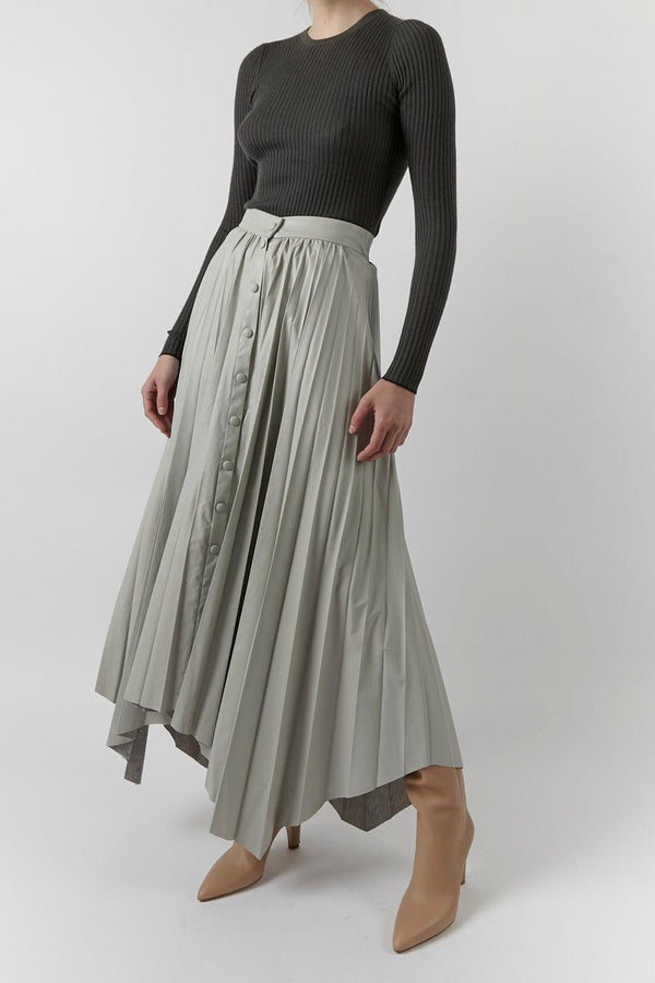 Davies Pleated Midi Skirt