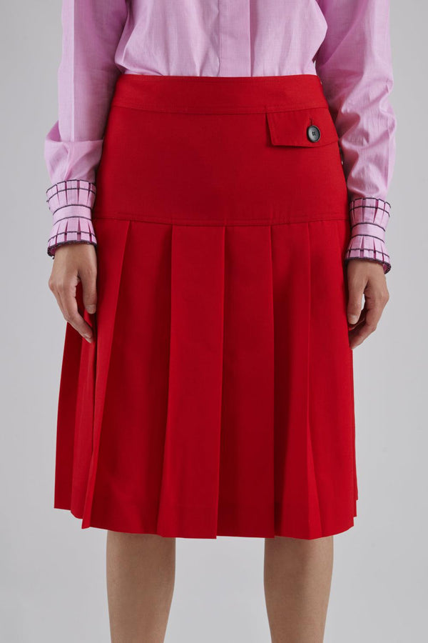 Pleated School Skirt