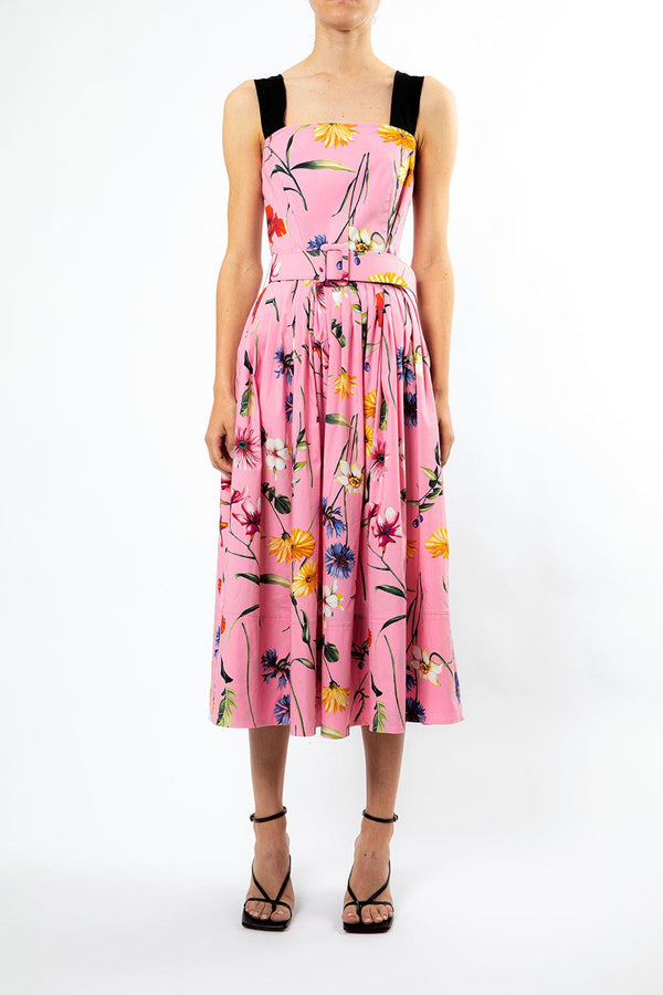 Squareneck Floral Day Dress