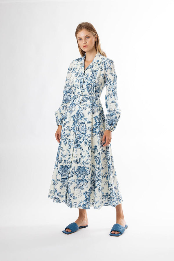 Toile De Jouy Poplin Kendrick Dress