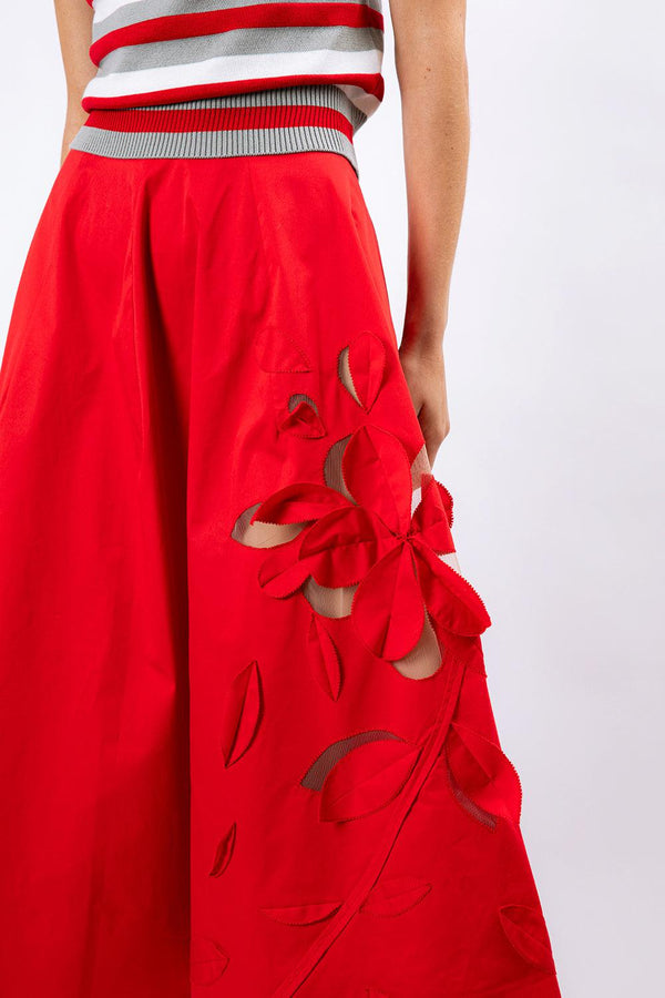 Scarlet Tea Length Skirt