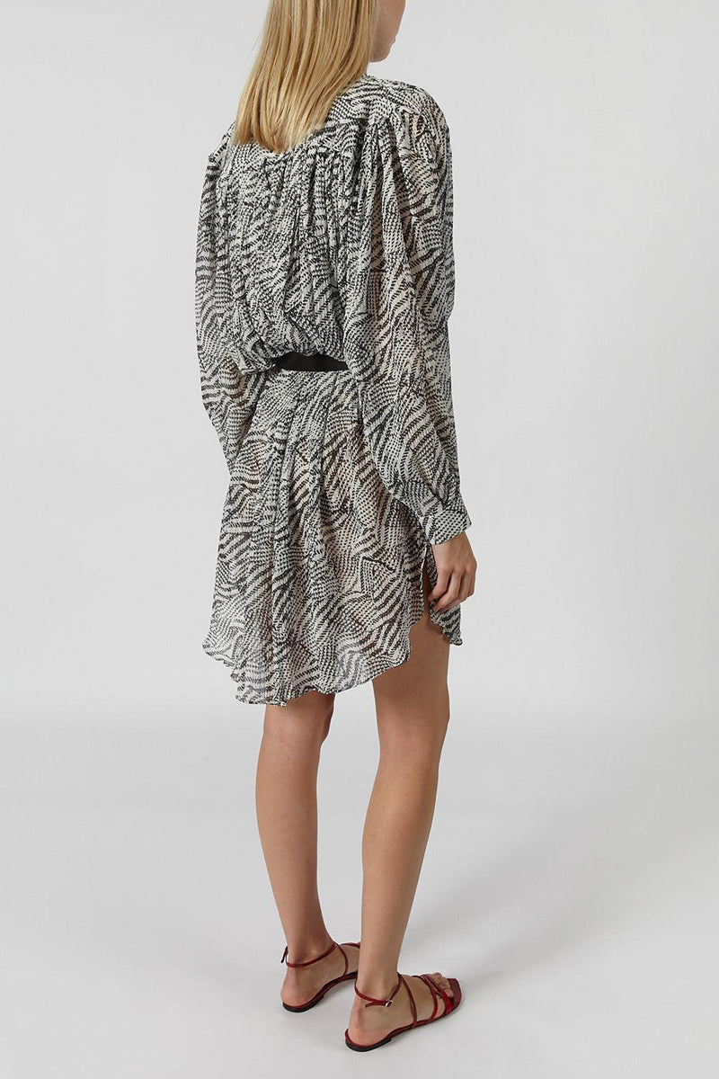 Erika cotton-silk blend shirt dress