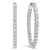 14K White Gold In-Out Diamond Earrings 1 ct