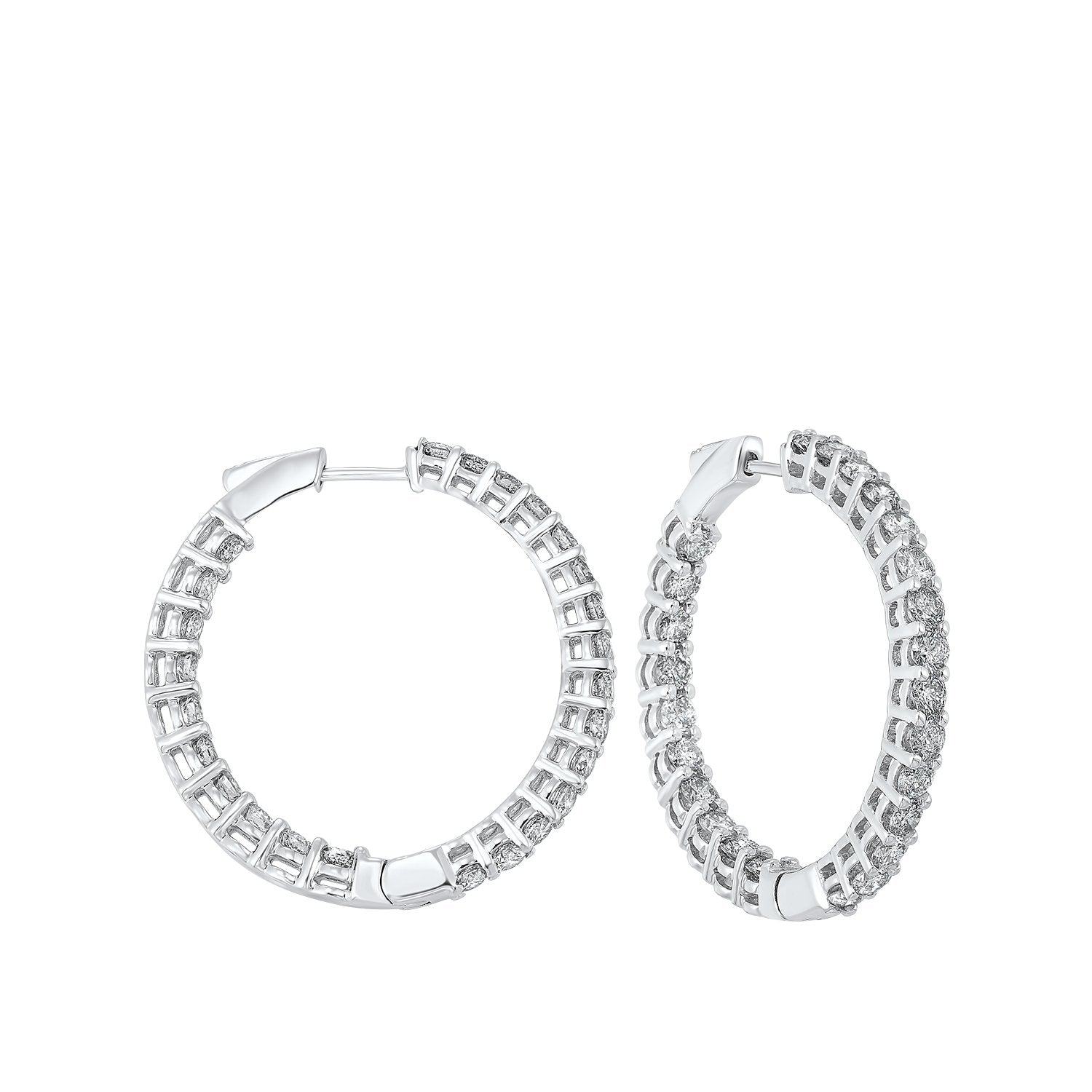 14K Round In-Out Earring 5ctw