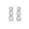 Silver Diamond 3 Stone Earring 1/3ctw