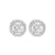 14K White Gold Diamond Earrings 1/4 ct