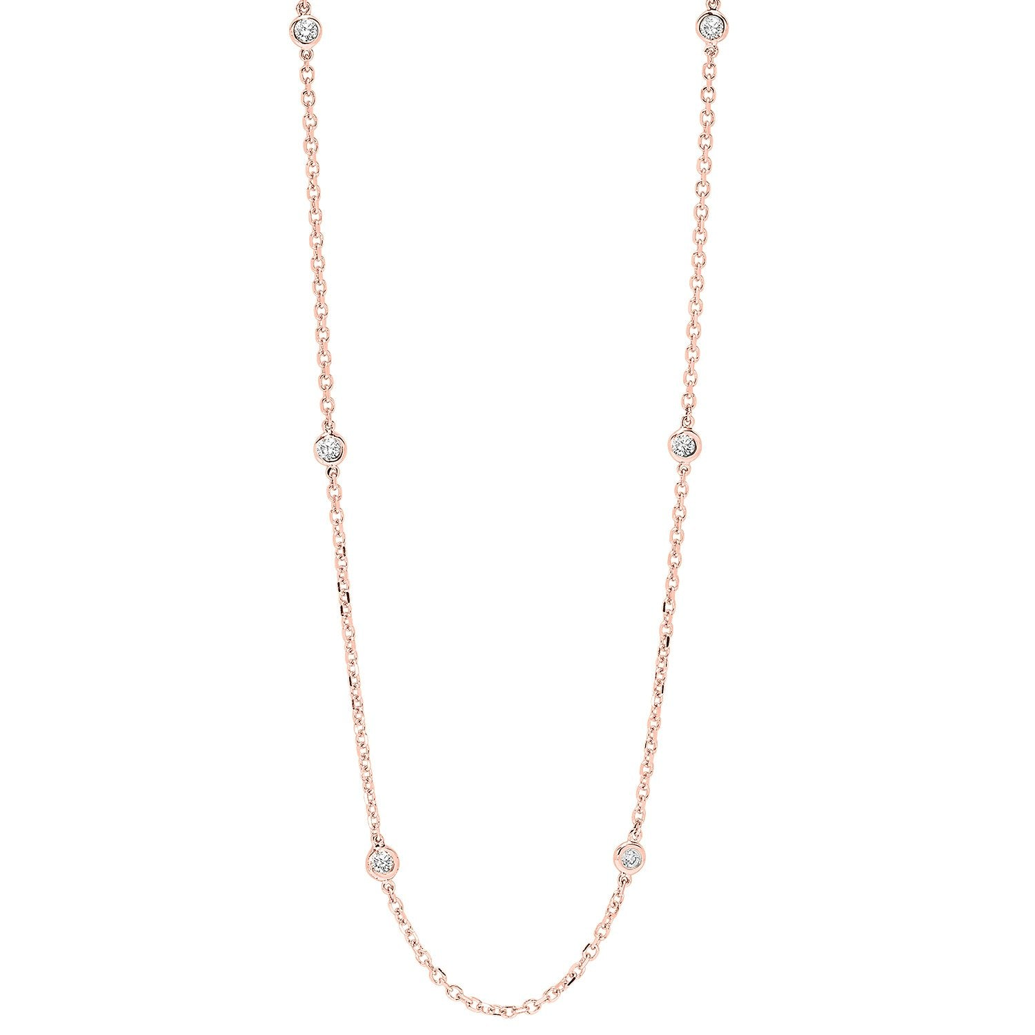 14K D.B.T.Y  1 1/2 ctw Necklace