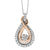 Gold & Silver Diamond Pendant 1/6 ctw