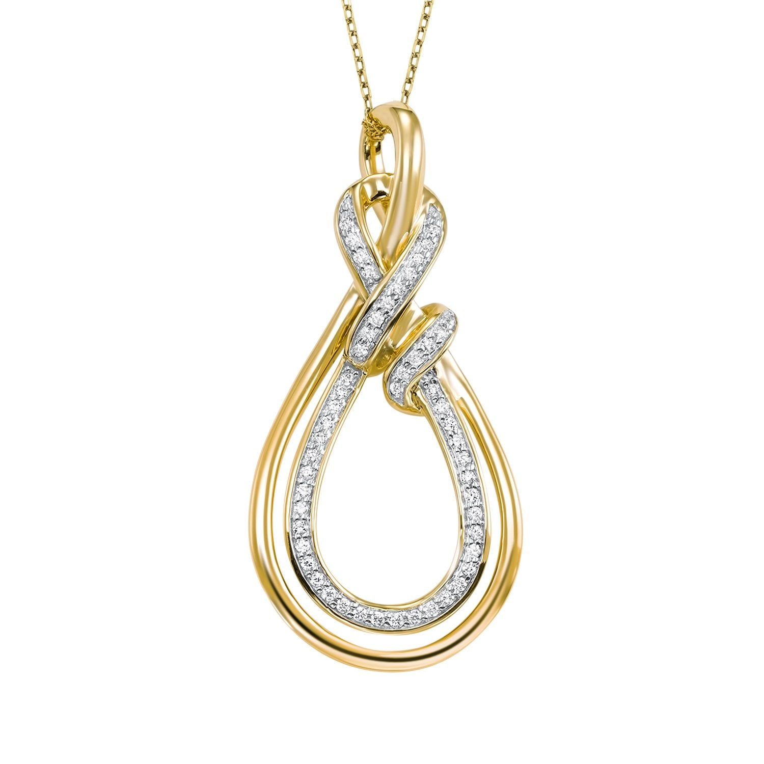 14KY Diamond Pendant 1/10 ctw