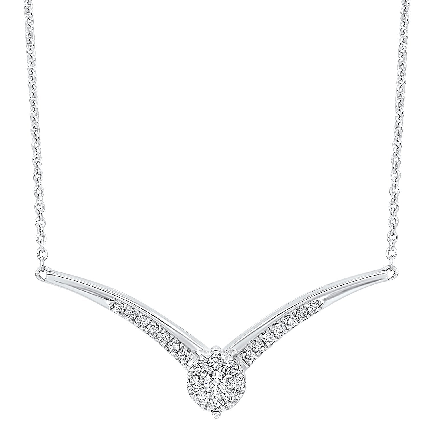 Gold Diamond Necklace 1/4 ctw