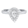14K Diamond Ring 1/4 ctw