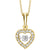 10K Diamond Rhythm of Love Pendant 1/5 ctw