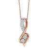 14K White Gold Diamond Two Stone Pendant 1/5 ct