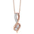 14K Diamond Two Stone Pendant 1/2 ctw