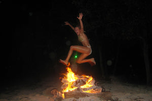 Fire Jump Lagoon Bay Mustique