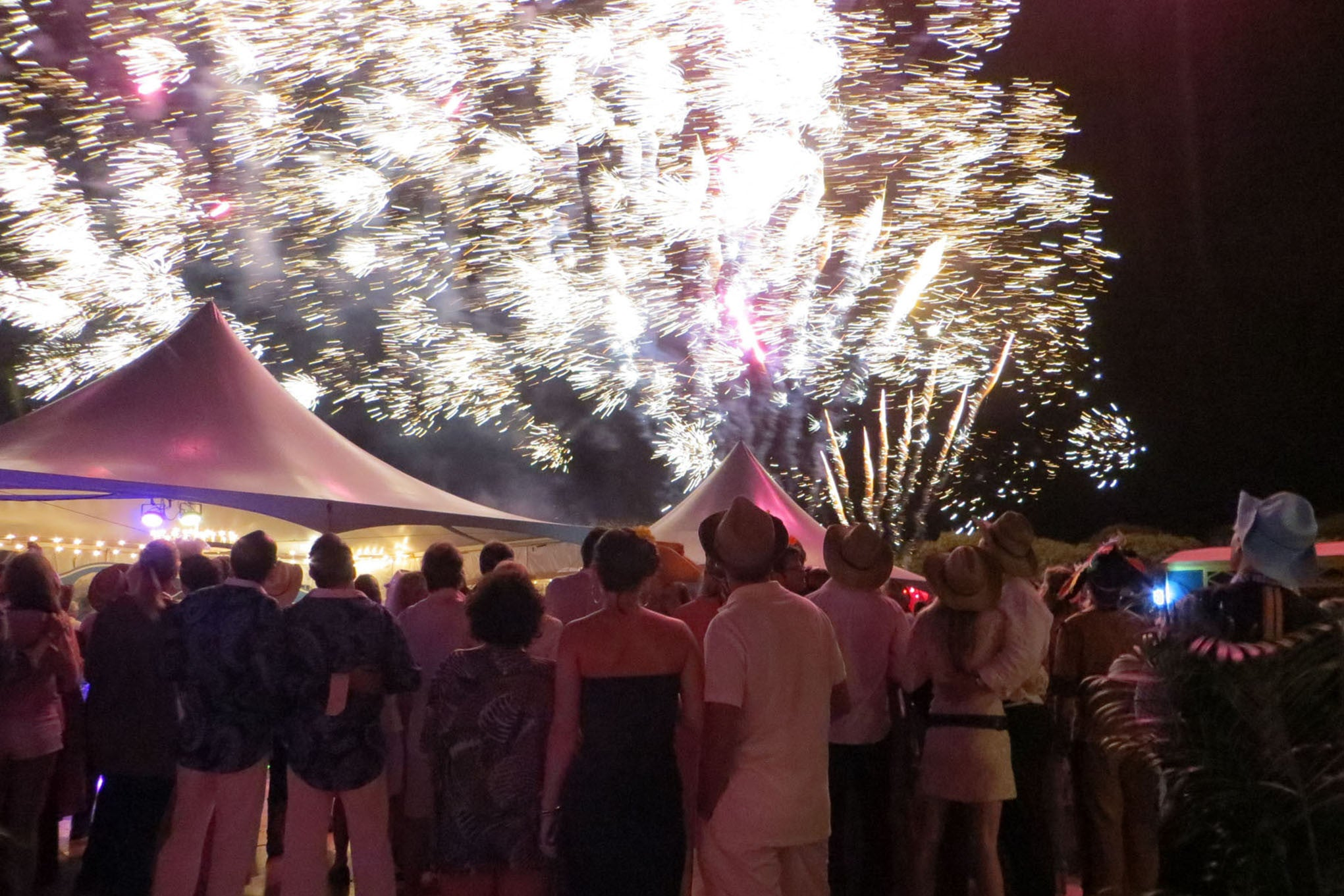 Fireworks at New Year's Eve Party Mustique