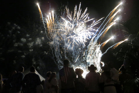 Fireworks at NYE party Mustique