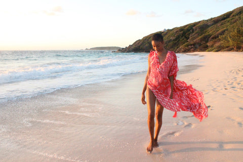 Jennlee Shallow on Macaroni Beach Mustique