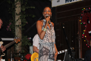 Jennlee Shallow at basil's Bar Mustique