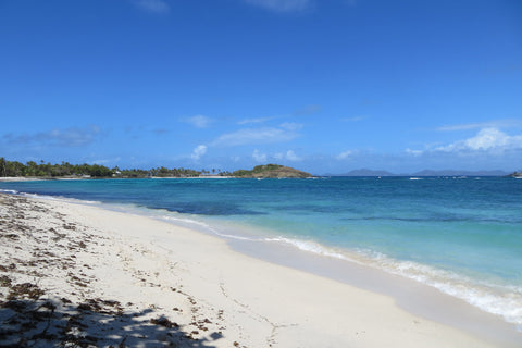 looking down Lansecoy Bay Mustique
