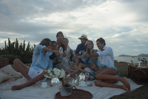 tea party at Frangipani point. photo by Sophie Fauchier