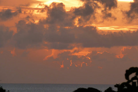 stormy sunset Mustique
