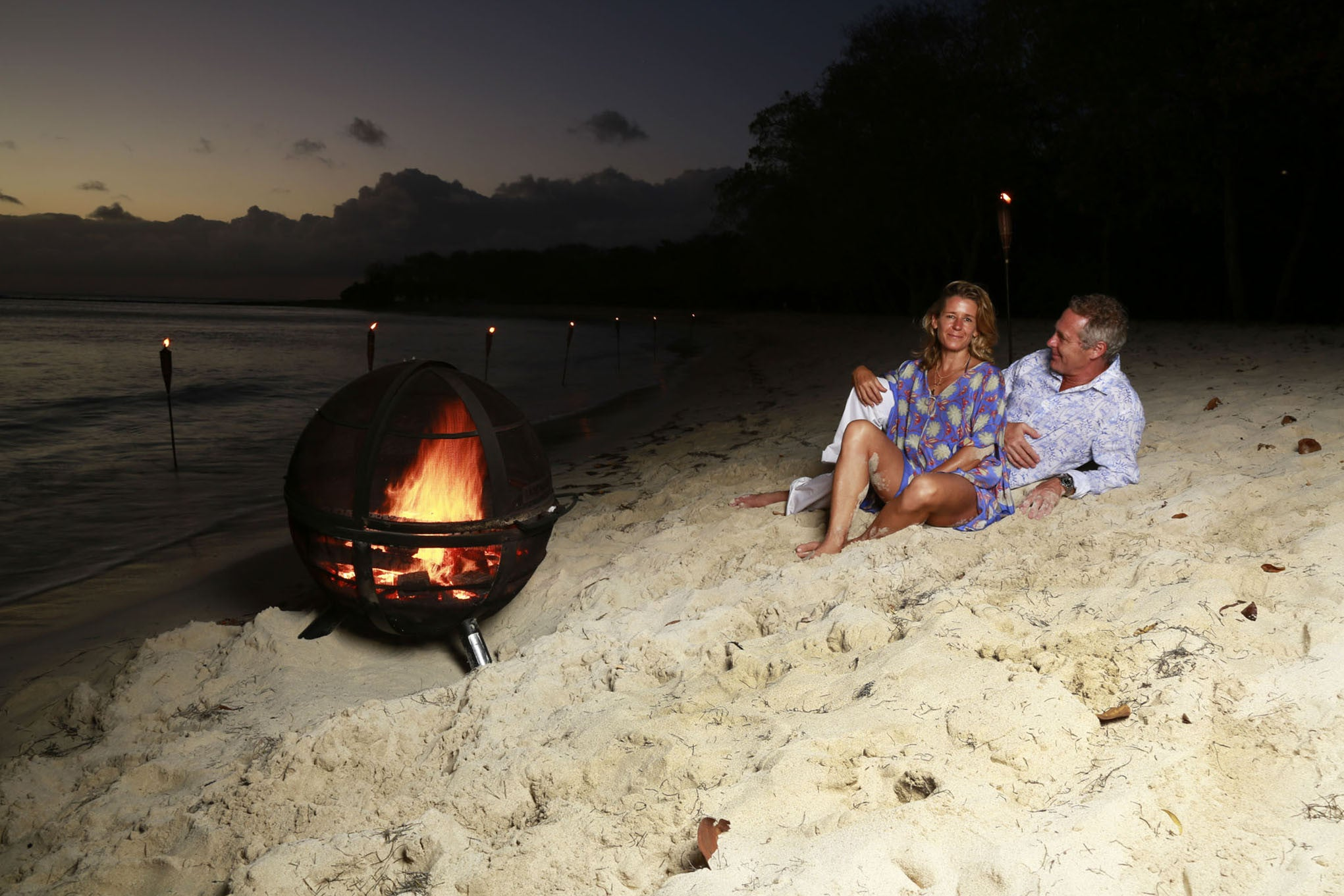 Fire-pit at Lagoon Bay Mustique