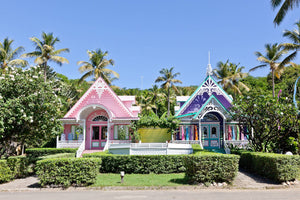 The Pink and Purple House Mustique