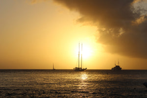 sunset from Basil's Bar Mustique