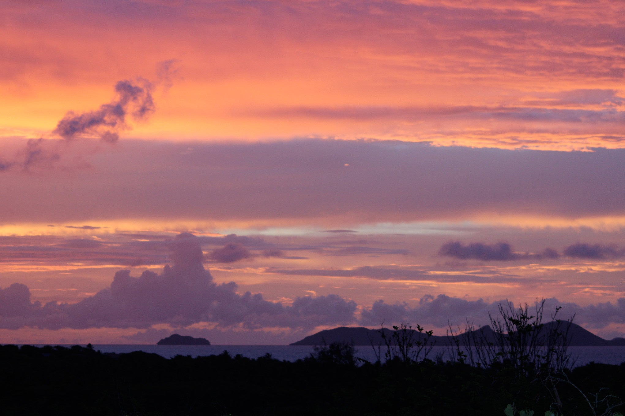 sunset on Mustique