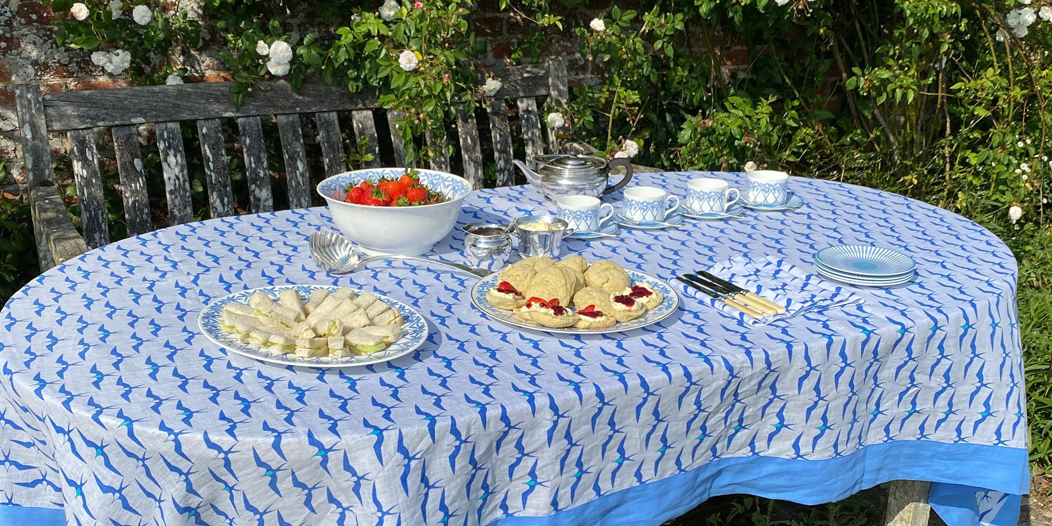 At last we can also adorn the home with Lotty's wonderful prints. Our tablecloths are produced in small runs to an exceptionally high standard on beautiful woven heavy-weight linen.