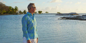 Choose the ultimate smart casual shirt from a variety of vibrant Caribbean prints. Cut from pure super soft linen to a relaxed European fit with long sleeves, mother-of-pearl buttons. Pink House linen shirts are durable, comfortable and above all fun