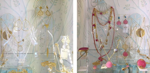 Ashiana Jewellery in pinks and whites in the Pink House Mustique.