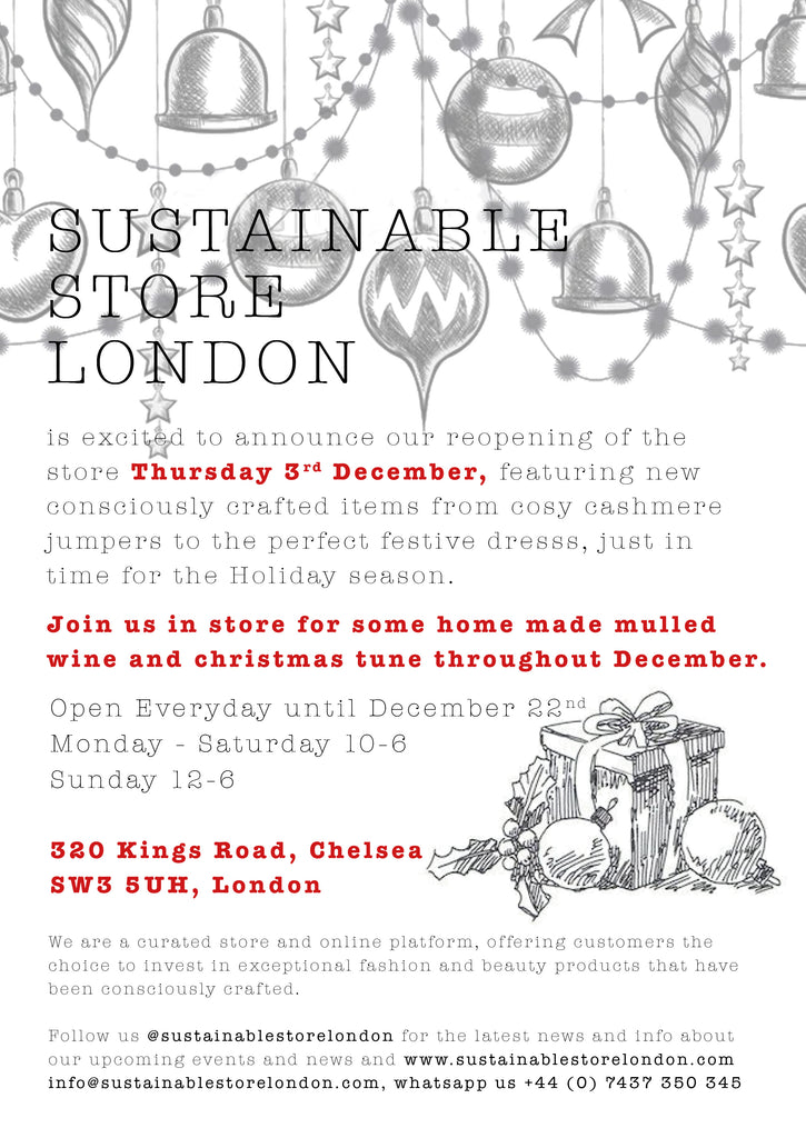Sustainable Store, 320 Kings Road - now open again!